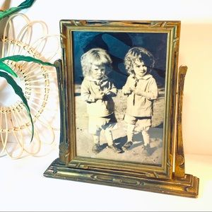Antique | Wood Swivel Picture Frame